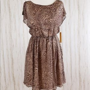 ⭐️Host Pick⭐️NWT {Alice + Olivia} Brown Silk Dress